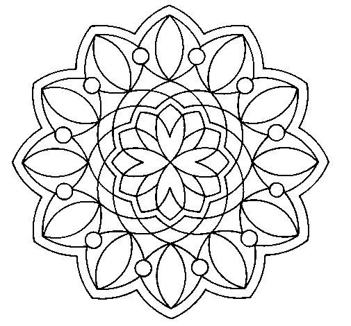 Dibujo de Mandala 3 para Colorear