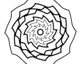 Dibujo de Mandala 9 para colorear