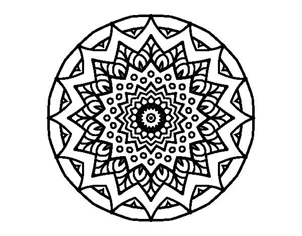 Dibujo de Mandala creciente para Colorear