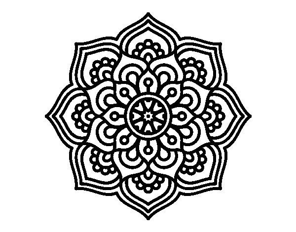 Dibujo de mandala flor de la concentraci n para colorear - Colores para la concentracion ...