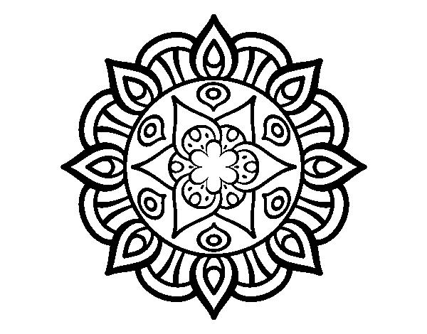 Dibujo de Mandala vida vegetal para Colorear  Dibujosnet