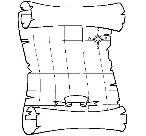 Dibujo de Mapa para Colorear