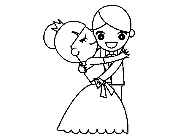 Husband and Wife Coloring Pages