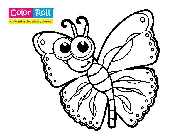 Mariposas para colorear parte 2 dibujo de princesa de las - Colores para pintar ...