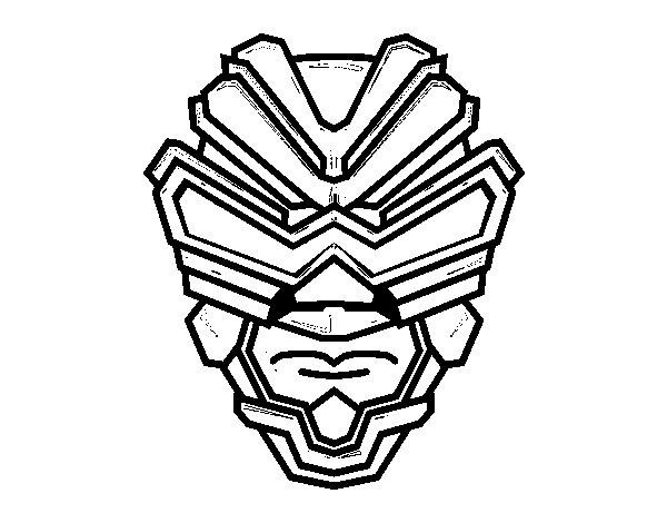 Dibujo de Máscara de rayos gamma para Colorear