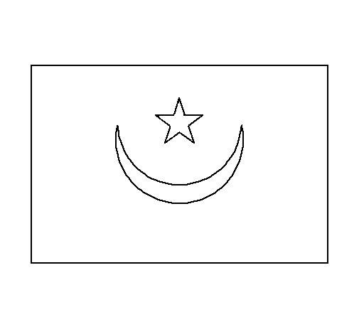 Dibujo de Mauritania para Colorear
