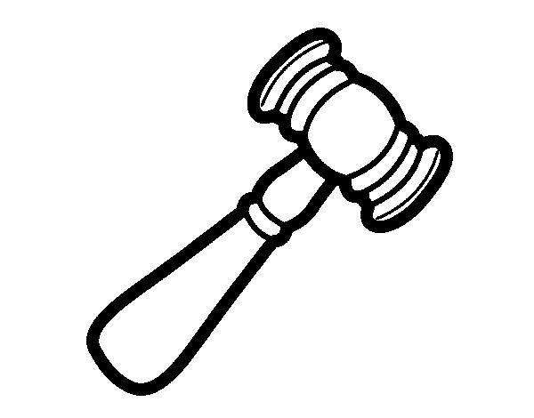 Dibujo de Mazo de juzgado para Colorear  Dibujosnet