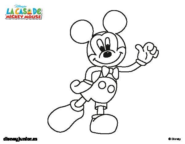 IMAGENES CASA DE MICKEY MOUSE PARA COLOREAR - Imagui