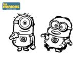 Dibujo de Minions - Carl y Dave para colorear