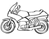 Dibujo de Motocicleta para colorear
