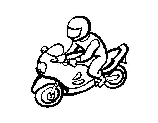 Dibujo de Motorista para Colorear  Dibujosnet