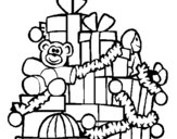 Dibujo de Muchos regalos para colorear