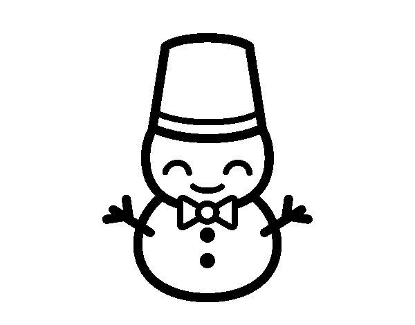 Dibujo de Muñeco de nieve 5 para Colorear