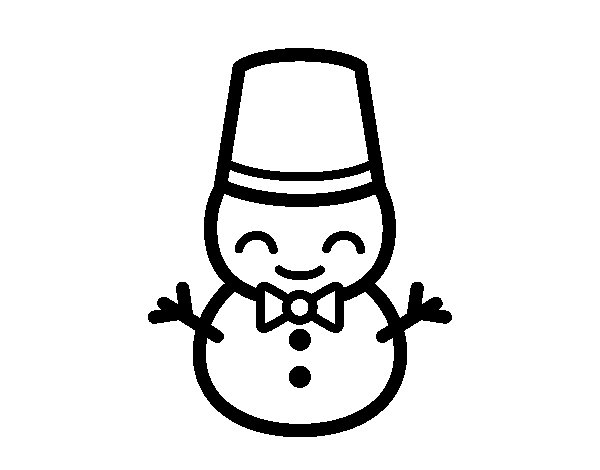 Muñeco De Nieve Dibujo: Dibujo De Muñeco De Nieve 5 Para Colorear