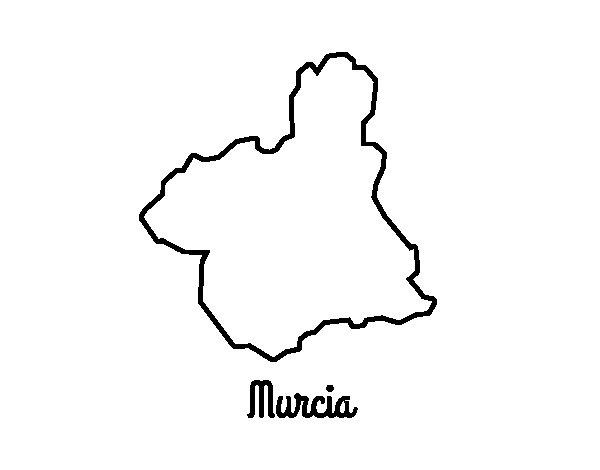 Dibujo de Murcia para Colorear