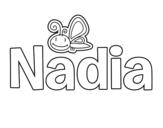 Dibujo de Nadia para colorear