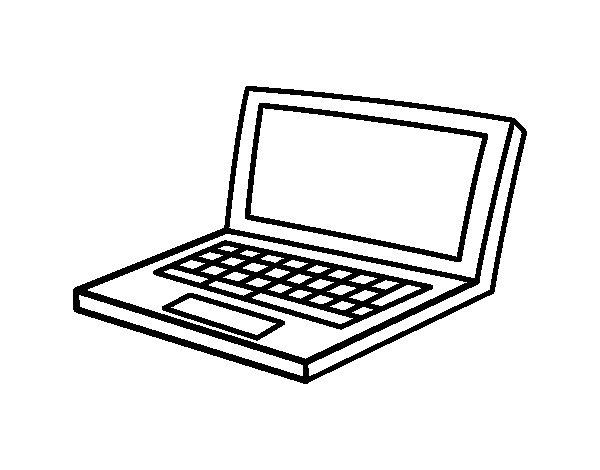 Dibujo De Netbook Para Colorear