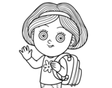 Dibujo de Niña escolar