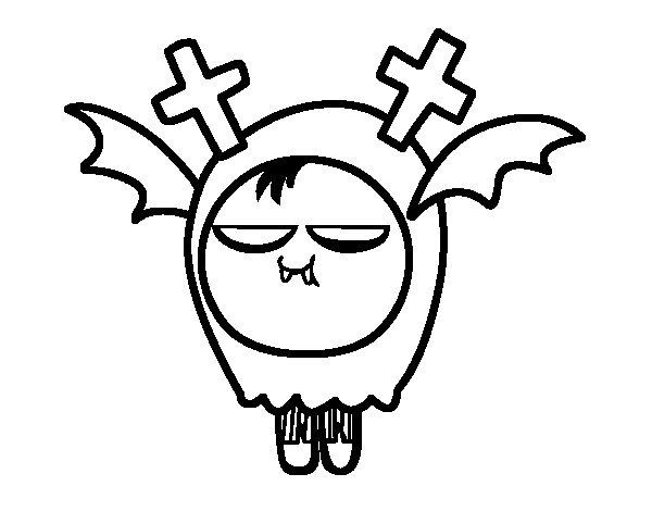 Dibujo de Niño monstruo para Colorear