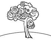 Dibujo de Nogal para colorear
