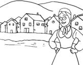 Dibujo de Noruega para colorear