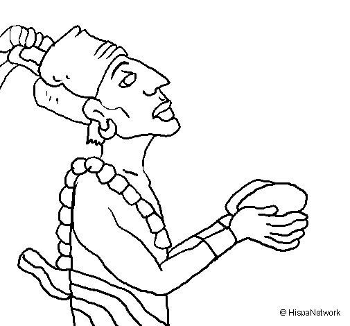 Dibujo de Ofrenda a los dioses para Colorear