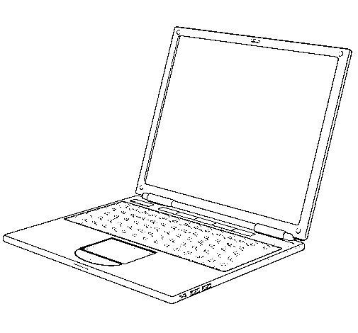 Dibujo de Ordenador porttil para Colorear  Dibujosnet