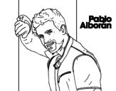 Dibujo de Pablo Alborán cantante para colorear