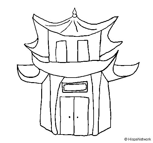 Dibujo de Pagoda para Colorear