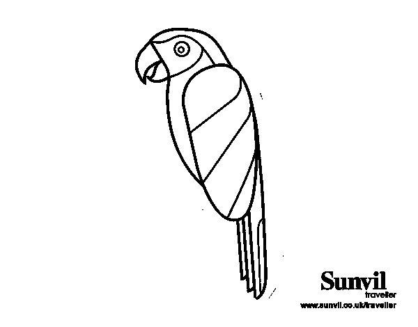 Dibujo de Pájaro Guacamayo para Colorear - Dibujos.net