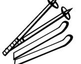 Dibujo de Palos de esquí para colorear