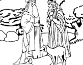 Dibujo de Pastores