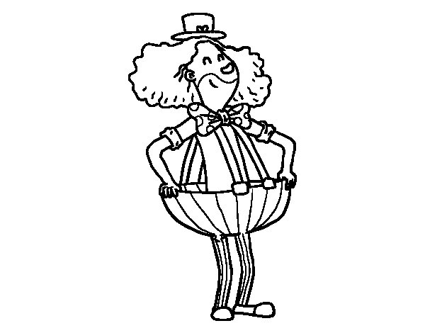 Dibujo de payaso con pantalones anchos para colorear for Disegno pagliaccio da colorare