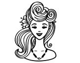 Dibujo de Peinado pin-up  para colorear