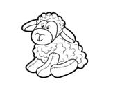 Dibujo de Peluche oveja para colorear