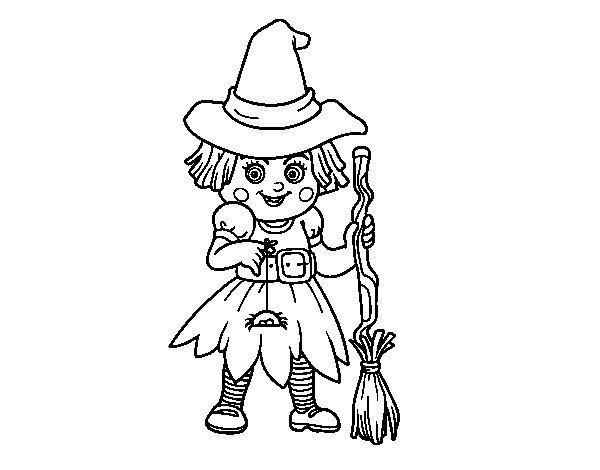 Dibujo de Pequeña bruja para Colorear