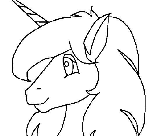 Dibujo de Pequeño unicornio para Colorear