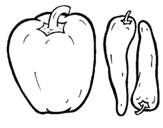 Dibujo de Pimientos para colorear
