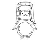 Dibujo de Pingüino con gorro