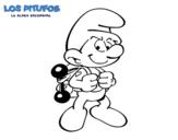 Dibujo de Pitufo fortachón