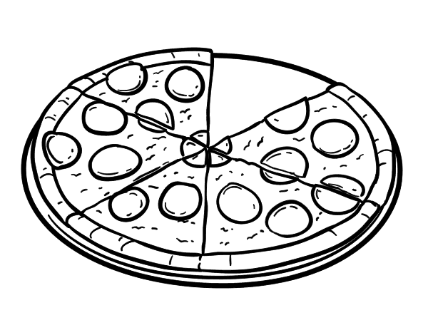 Worksheet. Dibujo de Pizza de pepperoni para Colorear  Dibujosnet