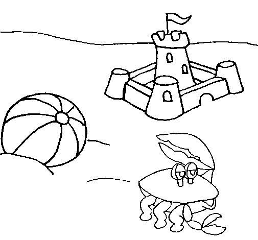Dibujo de Playa 2 para Colorear