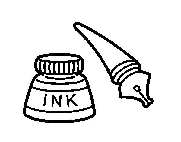 Dibujo de Pluma para Colorear