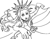 Dibujo de Princesa neoyorquina para colorear