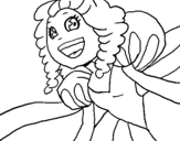 Dibujo de Princesa risueña