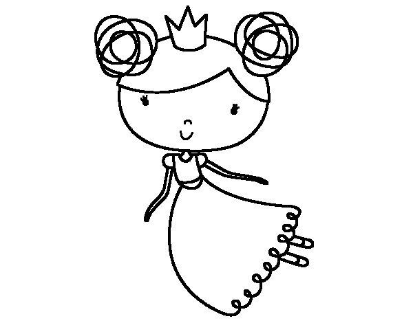 Dibujo de Princesa volando para Colorear  Dibujosnet