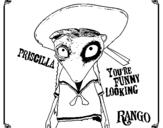 Dibujo de Priscilla para colorear