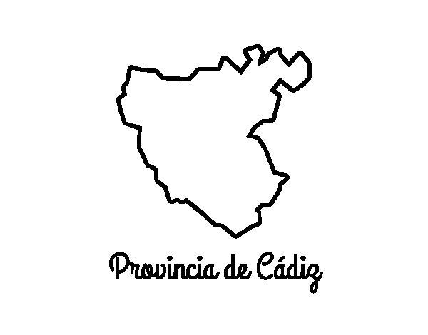 Dibujo de Provincia de Cádiz para Colorear