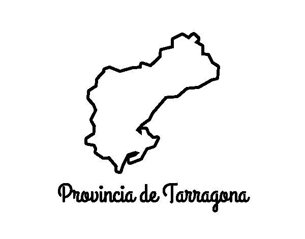 Dibujo de Provincia de Tarragona para Colorear