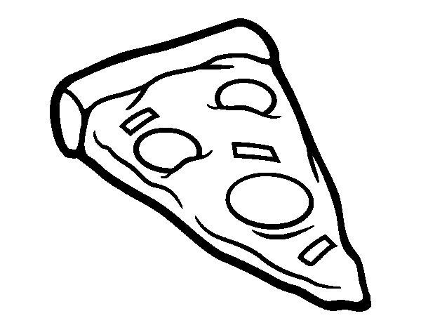 Dibujo de Racin de pizza para Colorear  Dibujosnet